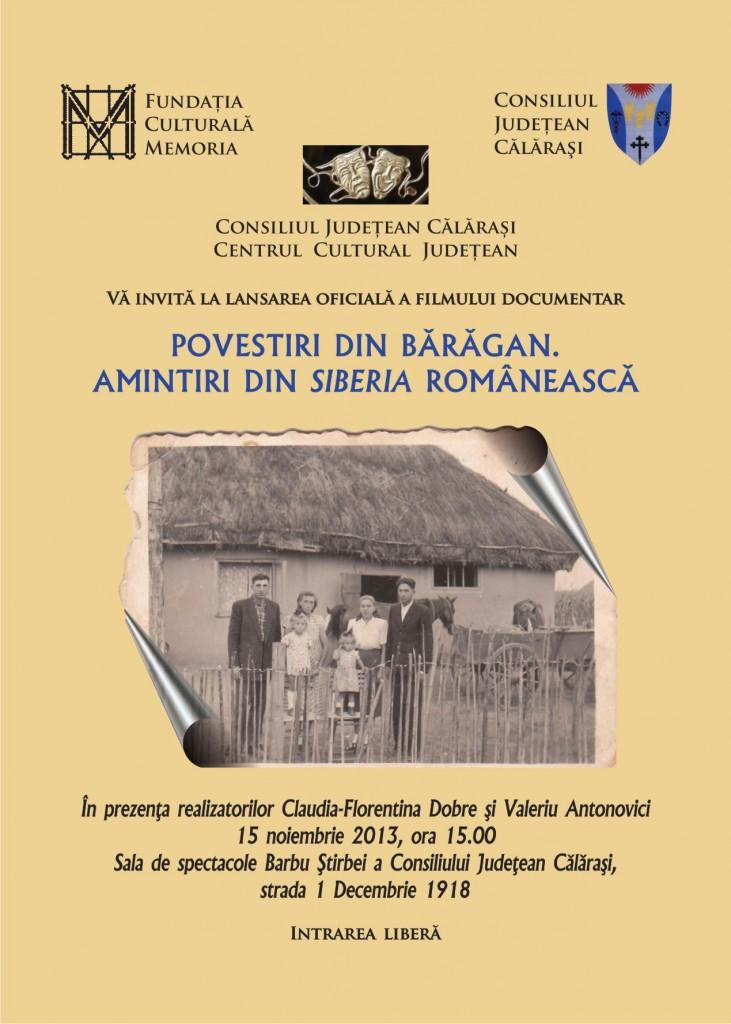 afis lansare carte Calarasi(1)